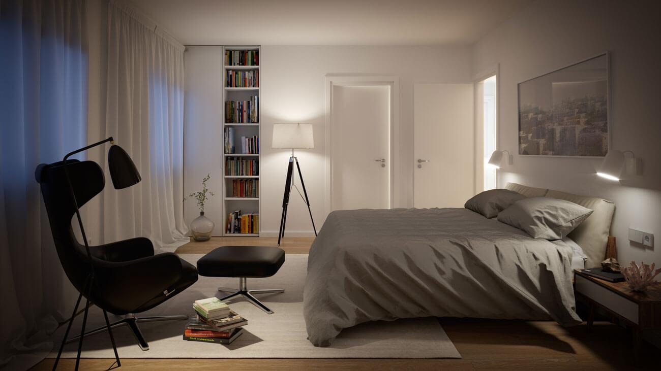 Infografía dormitorio